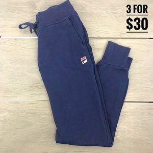 Fila sweat pants jogger style navy blue xs